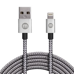 Mobo Cable Bicolor Lightning Plata 1M